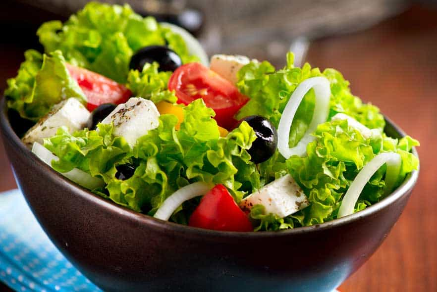 Photo of Harlan Kilstein's Completely Keto Mediterranean Salad With Feta And Black Olives