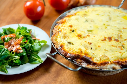 Harlan Kilstein's Completely Keto Smoked Salmon and Feta Cheese Quiche