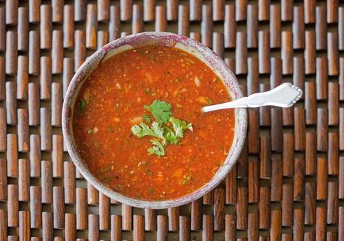 Photo of Harlan Kilstein's Completely Keto Gazpacho Soup