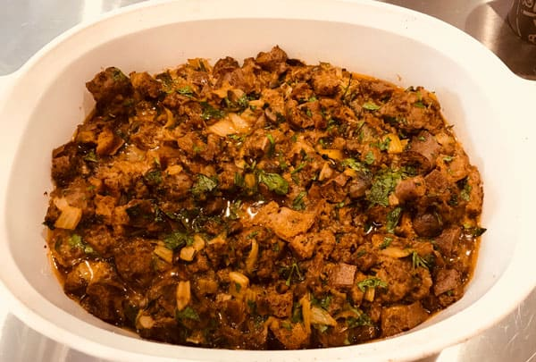 Photo of Harlan Kilstein's Completely Keto Holiday Sausage Stuffing
