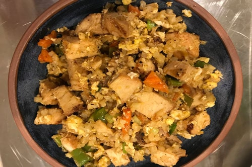 "Photo of Harlan Kilstein's Completely Keto Chicken Fried ""Rice"""