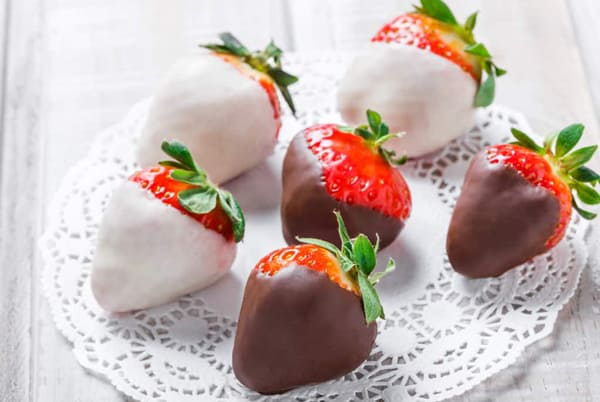 White Chocolate Covered Strawberries Coconut Oil