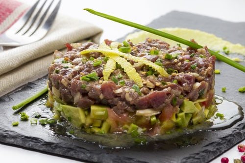 Photo of Harlan Kilstein's Completely Keto Seared Tuna & Avocado Tartare