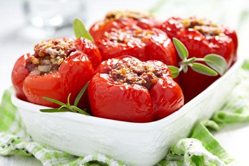 Photo of Harlan Kilstein's Completely Keto Stuffed Peppers
