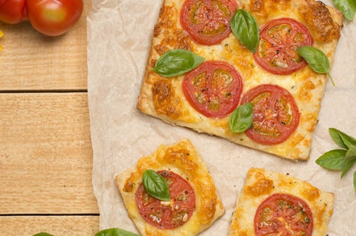 Photo of Harlan Kilstein's Completely Keto Tomato Pesto Pie