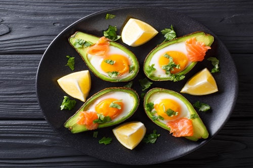 Photo of Harlan Kilstein's Completely Keto Baked Avocado, Egg & Smoked Salmon