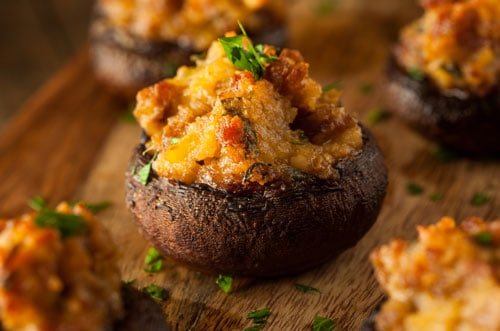 Photo of Harlan Kilstein's Completely Keto Stuffed Mushrooms