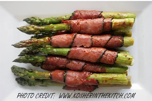 Photo of Harlan Kilstein's Completely Keto Asparagus and Pastrami Appetizer