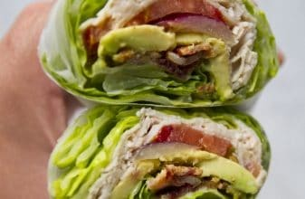 Photo of Harlan Kilstein's Completely Keto Lettuce Wrap Turkey Club