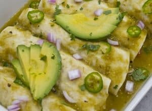 Photo of Harlan Kilstein's Completely Keto Enchiladas Verdes
