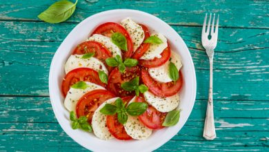 Photo of Harlan Kilstein's Completely Keto Fresh Caprese Salad Stacks