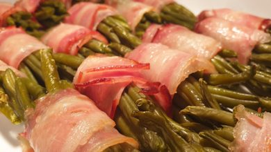Photo of Harlan Kilstein's Completely Keto Bacon Wrapped String Beans (SK)