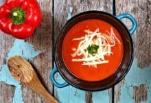 Photo of Harlan Kilstein's Completely Keto Cheesy Pepper Soup