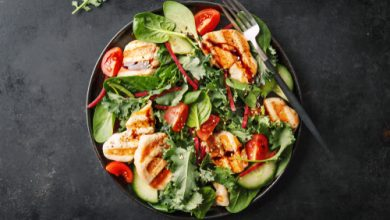 Photo of Harlan Kilstein's Completely Keto Chicken, Kale and Spinach Salad