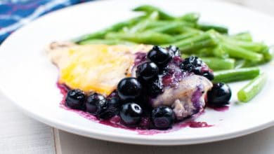 Photo of Harlan Kilstein's Completely Keto Blueberry Cheese Chicken