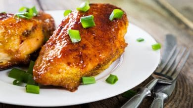 Photo of Harlan Kilstein's Completely Keto Chicken with Honey Garlic Sauce