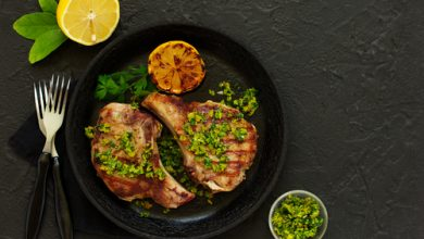 Photo of Harlan Kilstein's Completely Keto Pork Cutlets with Gremolata (SK)