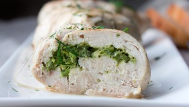 Photo of Harlan Kilstein's Completely Keto Stuffed Turkey with Green