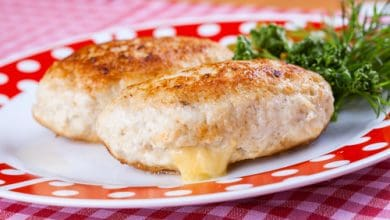Photo of Harlan Kilstein's Completely Keto Chicken with Mushroom Cheese Stuffing