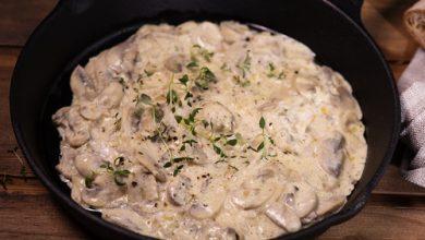 Photo of Harlan Kilstein's Completely Keto Creamy Mushroom Sauce
