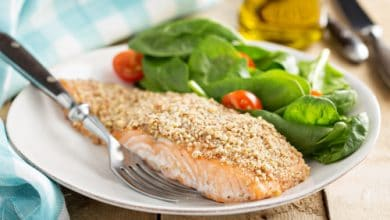 Photo of Harlan Kilstein's Completely Keto Nut Crusted Salmon