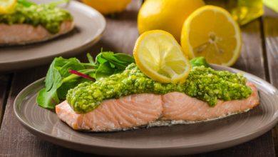 Photo of Harlan Kilstein's Completely Keto Pesto Salmon