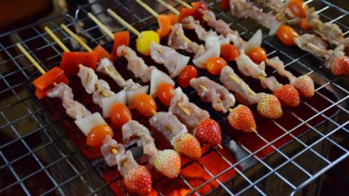 Photo of Harlan Kilstein's Completely Keto Strawberry and Pork Skewers
