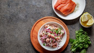 Photo of Harlan Kilstein's Completely Keto Salmon Ceviche