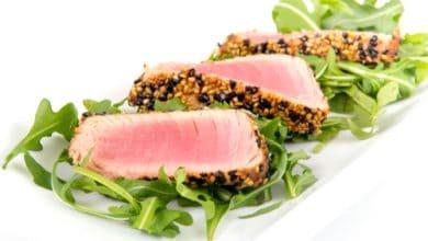 Photo of Harlan Kilstein's Completely Keto Tuna Steaks in Peanut Sauce