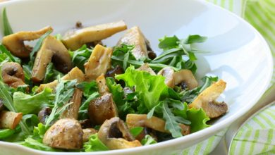 Photo of Harlan Kilstein's Completely Keto Walnut Mushroom Salad