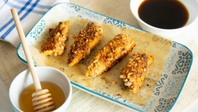 Photo of Harlan Kilstein's Completely Keto Honey Almond Crispy Chicken