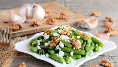 Photo of Harlan Kilstein's Completely Keto Green Bean, Cottage Cheese and Walnut Salad