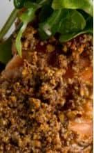 Photo of Harlan Kilstein's Completely Keto Crunchy Almond Salmon