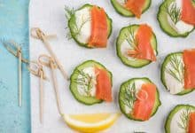 Photo of Harlan Kilstein's Completely Keto Smoked Salmon, Cottage Cheese and Cucumber Bites