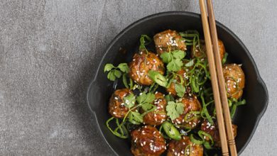 Photo of Harlan Kilstein's Completely Keto Meatballs Asian Style