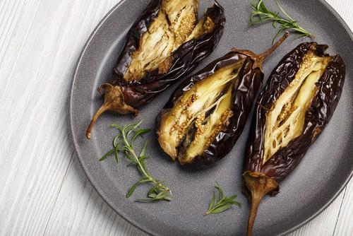 Photo of Harlan Kilstein's Completely Keto Mediterranean Oven Baked Eggplant