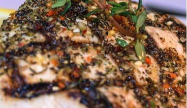 Photo of Harlan Kilstein's Completely Keto Grilled Herb Mahi Mahi with Balsamic Glaze
